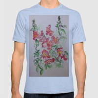 Blind Contour Snapdragon Mens Fitted Tee Athletic Blue SMALL