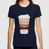 Four Shades Of Coffee + … Womens Fitted Tee Navy SMALL