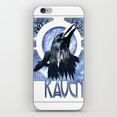 The Raven and The Moon iPhone & iPod Skin