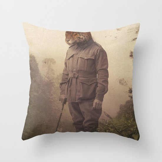 Jungle Jaguar Throw Pillow
