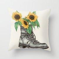Shoe Bouquet I Throw Pillow