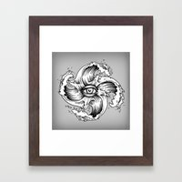 WITHIN THE EYE OF THE STORM Framed Art Print