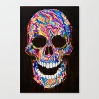 Chromatic Skull 02 Canvas Print