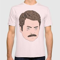Ron Swanson Mens Fitted Tee Light Pink SMALL
