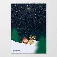 Nicolas&Rudolph (Star) Canvas Print