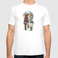 Water Run Mens Fitted Tee White SMALL