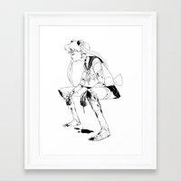 Framed Art Print featuring Brawler Sailor Moon - Sketch by Suarez Art