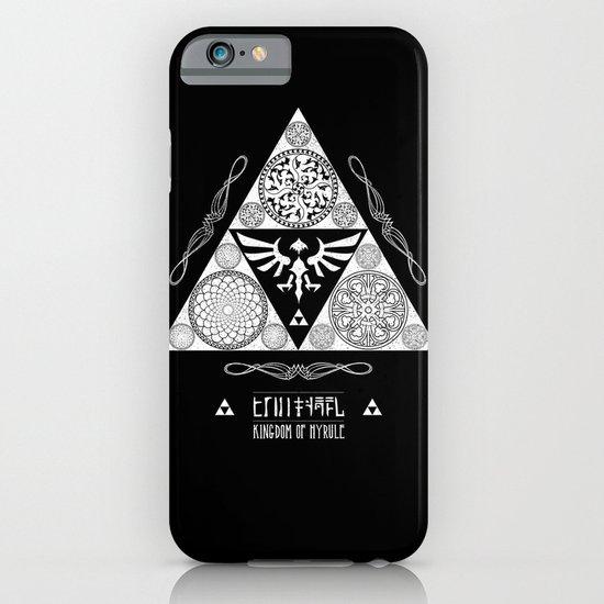 Legend of Zelda Kingdom of Hyrule Crest Letterpress Vector Art iPhone & iPod Case