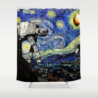 Starry Night Versus The … Shower Curtain