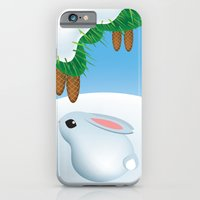 iPhone & iPod Case featuring Winter bunny by Glashka