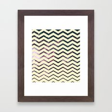 Cosmic Zag Framed Art Print