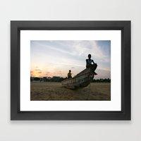Ghanaian Sunset Framed Art Print