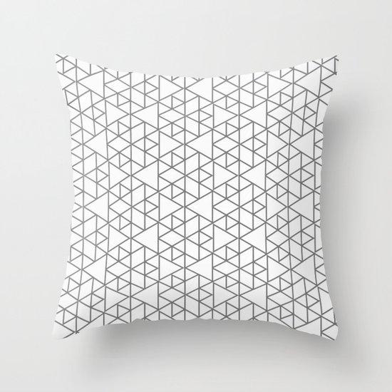 Karthuizer Grey & White Pattern Throw Pillow