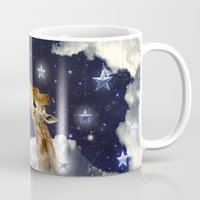 Shoot For The Moon (Giraffe In The Clouds) Mug