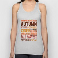 Subway Style Autumn Word… Unisex Tank Top