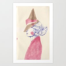 A Touch of Pink Art Print