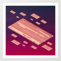 A Fleet Of Baconships Fl… Art Print