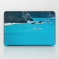 Blue Paradise, seascape photography. Mediterranean blue sea, summer vacations iPad Case