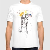 Done-fried My Brain Mens Fitted Tee White SMALL
