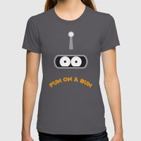 FUN ON A BUN Womens Fitted Tee Asphalt SMALL