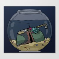 The Snail Conquers The Fett Canvas Print