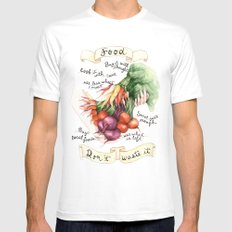 Food Poster SMALL Mens Fitted Tee White