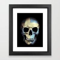 Swedish Skull Framed Art Print