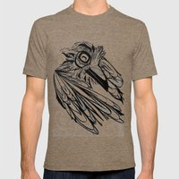 Raven's Escape Mens Fitted Tee Tri-Coffee SMALL