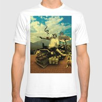 Hunter S Mens Fitted Tee White SMALL