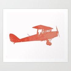 Nursery airplane wall art print Art Print