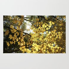 Golden Leaf Canopy Rug
