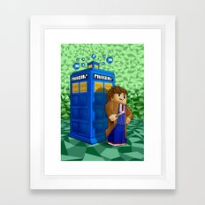 10th Doctor who in 8bit world iPhone 4 4s 5 5c 6, pillow case, mugs and tshirt Framed Art Print