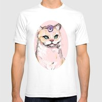 Josephine The Cat Mens Fitted Tee White SMALL
