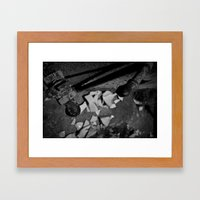 Pick Up The Pieces Framed Art Print