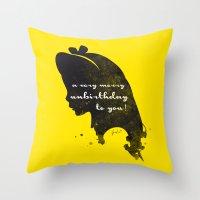 Unbirthday – Alice Sil… Throw Pillow
