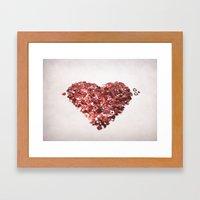 My Confetti Heart Framed Art Print