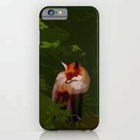 FOX IN A COOL GREEN WORLD iPhone 6 Slim Case