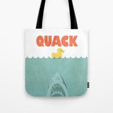 Jaws Rubber Duck Tote Bag