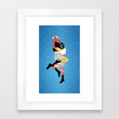 Glitter Fight Framed Art Print