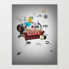 Rock and Roll living Canvas Print