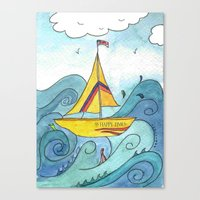 SS Happy Times Canvas Print