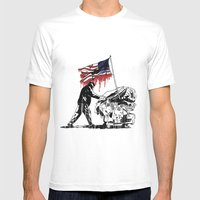 MERICA Mens Fitted Tee White SMALL