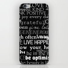 Inspirational Words iPhone & iPod Skin
