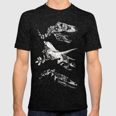 Jurassic Bloom. Mens Fitted Tee Tri-Black SMALL