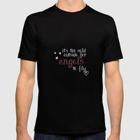 Angels Mens Fitted Tee Black SMALL
