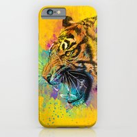 iPhone Cases featuring Angry Tiger by Olechka