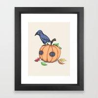 Plushie Fall Framed Art Print