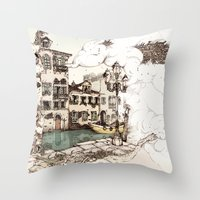 Vivaldi's morning in Venice Throw Pillow