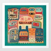 Instant Drôlatique-8h37… Art Print