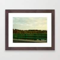 Just another fall drive. Framed Art Print